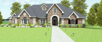 4 Bed, 3 Bath, 2988 Square Foot House Plan - #9940-00003