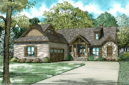 3 Bed, 2 Bath, 2091 Square Foot House Plan #110-01022