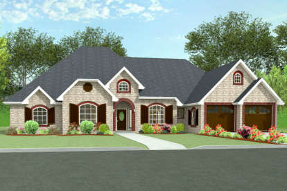 4 Bed, 3 Bath, 3292 Square Foot House Plan - #9940-00004