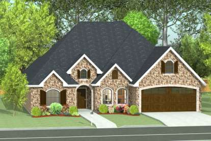 3 Bed, 2 Bath, 2065 Square Foot House Plan #9940-00005