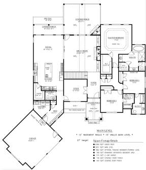 Floorplan 1 for House Plan #286-00061