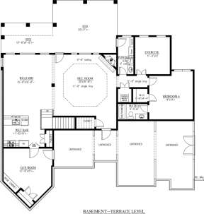 Basement Floor Plan for House Plan #286-00061