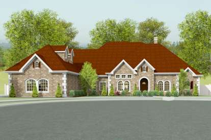 3 Bed, 3 Bath, 3219 Square Foot House Plan #9940-00007