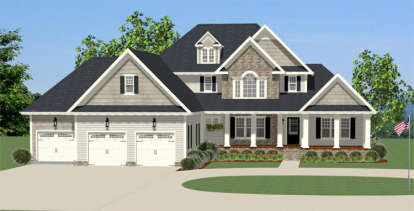 3 Bed, 2 Bath, 3053 Square Foot House Plan - #6849-00021