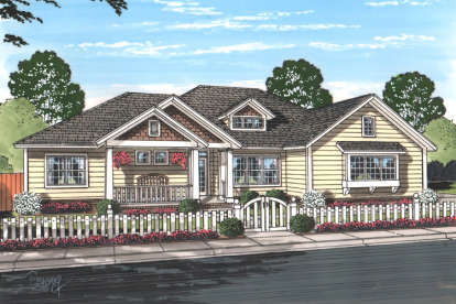 4 Bed, 3 Bath, 2193 Square Foot House Plan - #4848-00329