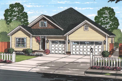 5 Bed, 3 Bath, 1996 Square Foot House Plan - #4848-00338