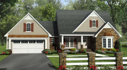 4 Bed, 2 Bath, 2258 Square Foot House Plan - #348-00247