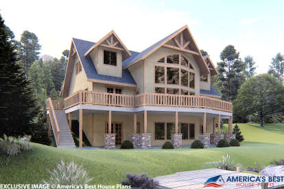 3 Bed, 3 Bath, 2281 Square Foot House Plan #039-00352