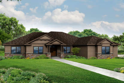 3 Bed, 3 Bath, 3008 Square Foot House Plan - #035-00693