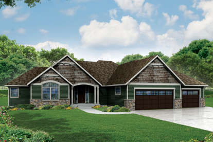 3 Bed, 3 Bath, 2718 Square Foot House Plan - #035-00698