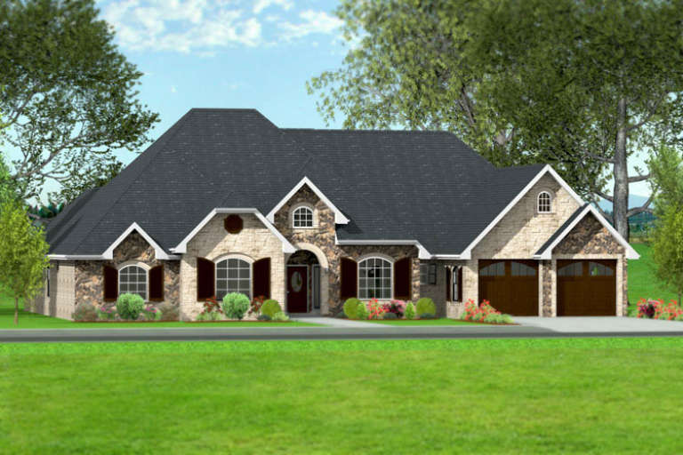 French Country House Plan #9940-00012 Elevation Photo