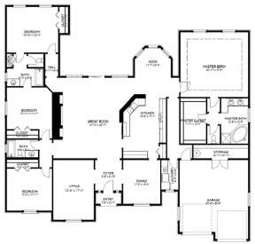 Floorplan 1 for House Plan #9940-00012