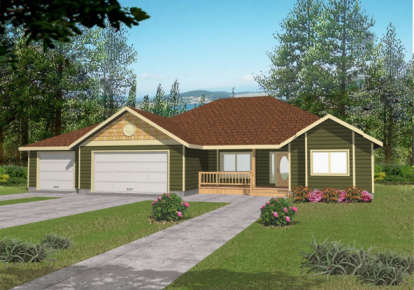 3 Bed, 2 Bath, 1740 Square Foot House Plan - #039-00354
