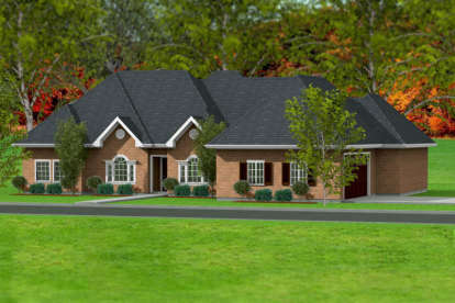 3 Bed, 2 Bath, 2142 Square Foot House Plan #9940-00014