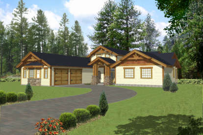 3 Bed, 2 Bath, 2451 Square Foot House Plan - #039-00355