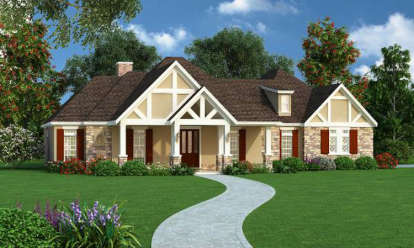 3 Bed, 3 Bath, 2342 Square Foot House Plan - #048-00242