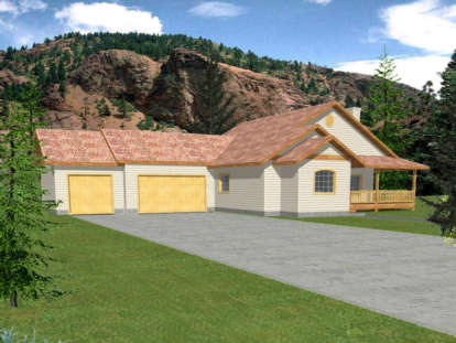 3 Bed, 2 Bath, 1739 Square Foot House Plan - #039-00356