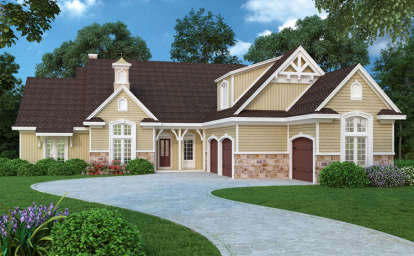 4 Bed, 2 Bath, 2500 Square Foot House Plan - #048-00243