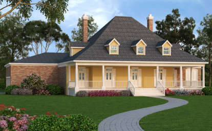 4 Bed, 3 Bath, 4005 Square Foot House Plan - #048-00245
