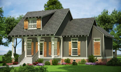 3 Bed, 2 Bath, 1086 Square Foot House Plan #048-00246