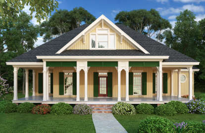 2 Bed, 2 Bath, 1516 Square Foot House Plan #048-00247