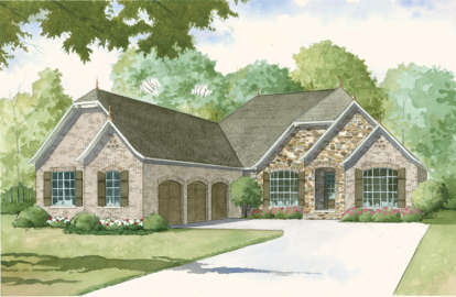 4 Bed, 3 Bath, 4035 Square Foot House Plan - #8318-00003