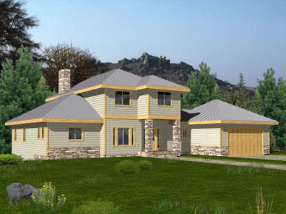 3 Bed, 3 Bath, 2776 Square Foot House Plan - #039-00357