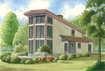 2 Bed, 2 Bath, 1098 Square Foot House Plan - #8318-00006