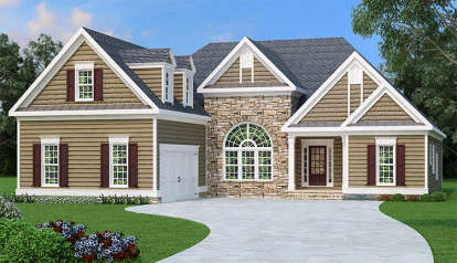 3 Bed, 2 Bath, 2397 Square Foot House Plan - #009-00001