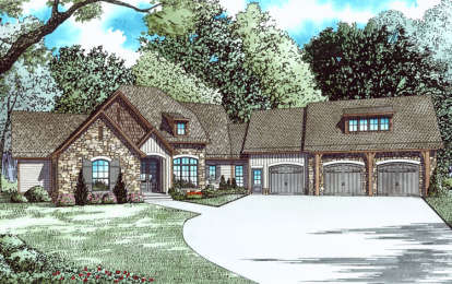 4 Bed, 3 Bath, 4264 Square Foot House Plan - #110-01031