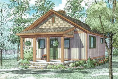 2 Bed, 1 Bath, 691 Square Foot House Plan - #110-01038
