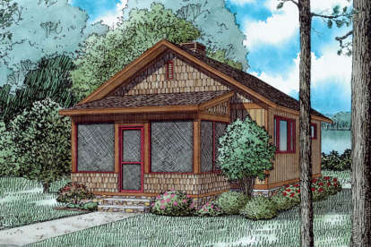 2 Bed, 1 Bath, 691 Square Foot House Plan - #110-01039