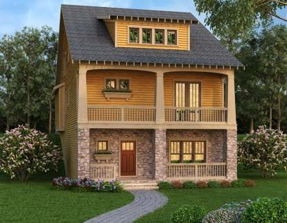 3 Bed, 4 Bath, 3241 Square Foot House Plan - #009-00257