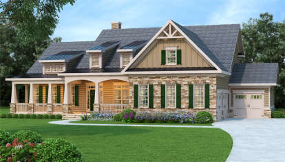 5 Bed, 4 Bath, 4061 Square Foot House Plan - #009-00261