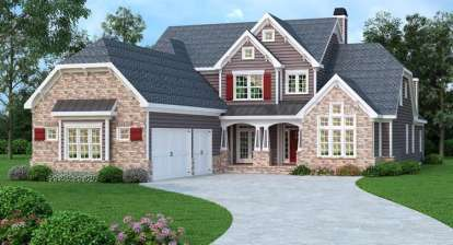5 Bed, 5 Bath, 4096 Square Foot House Plan - #009-00266