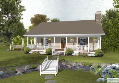 2 Bed, 1 Bath, 1059 Square Foot House Plan #036-00172