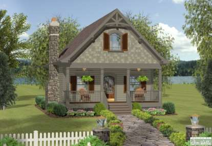 1 Bed, 1 Bath, 1148 Square Foot House Plan - #036-00173