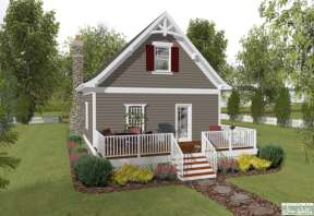 Cottage House Plan #036-00174 Elevation Photo
