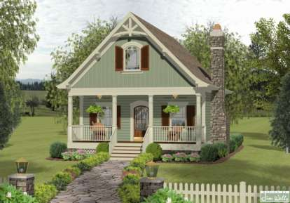 1 Bed, 2 Bath, 1137 Square Foot House Plan - #036-00175