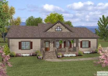 3 Bed, 2 Bath, 1597 Square Foot House Plan - #036-00182