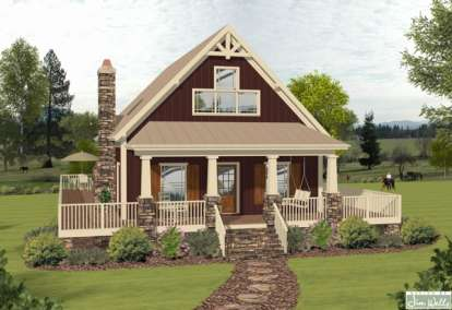 3 Bed, 2 Bath, 1592 Square Foot House Plan #036-00185