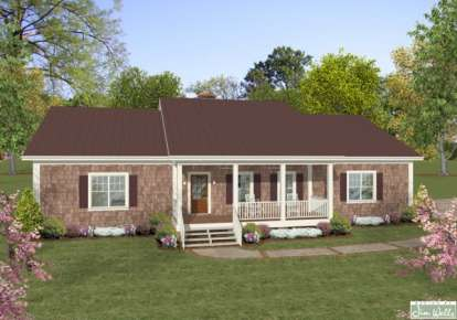 3 Bed, 2 Bath, 1600 Square Foot House Plan - #036-00186