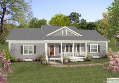 3 Bed, 2 Bath, 1600 Square Foot House Plan - #036-00187