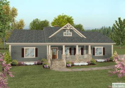 3 Bed, 2 Bath, 1638 Square Foot House Plan - #036-00191