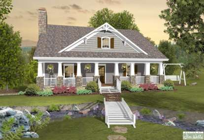 3 Bed, 2 Bath, 1666 Square Foot House Plan #036-00195