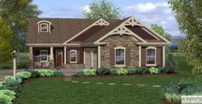 Craftsman House Plan #036-00200 Elevation Photo