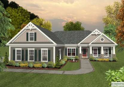 3 Bed, 2 Bath, 1800 Square Foot House Plan - #036-00203
