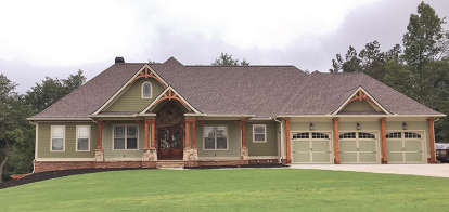 4 Bed, 3 Bath, 2718 Square Foot House Plan #286-00064