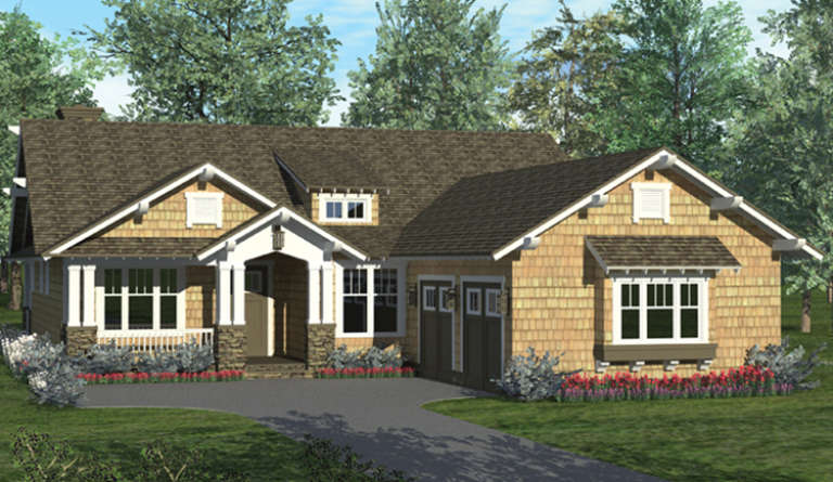 Cottage House Plan #3323-00605 Elevation Photo