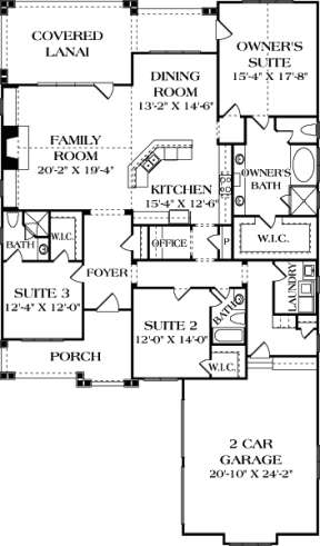 Main Floor Plan for House Plan #3323-00605